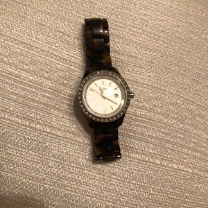 Fossil watch. Tortoise shell, acetate. Like new!